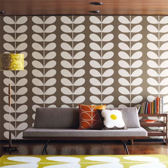 Orla kiely wallpaper usa canada for Interieur 70 jaren