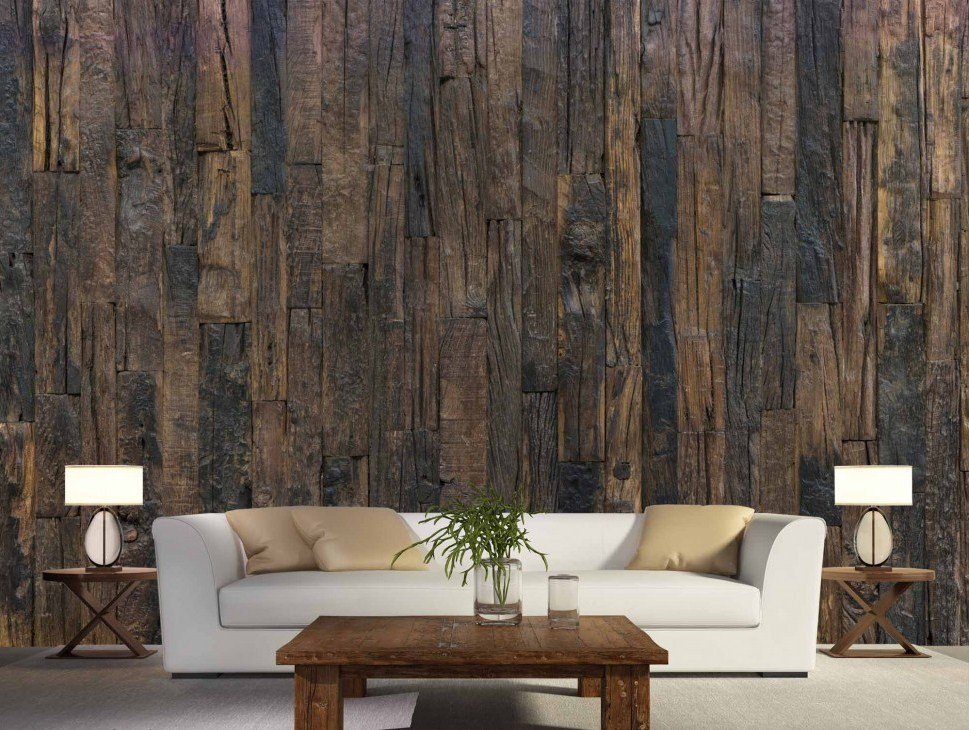 Finest mural antique wood for Antique wallpaper mural