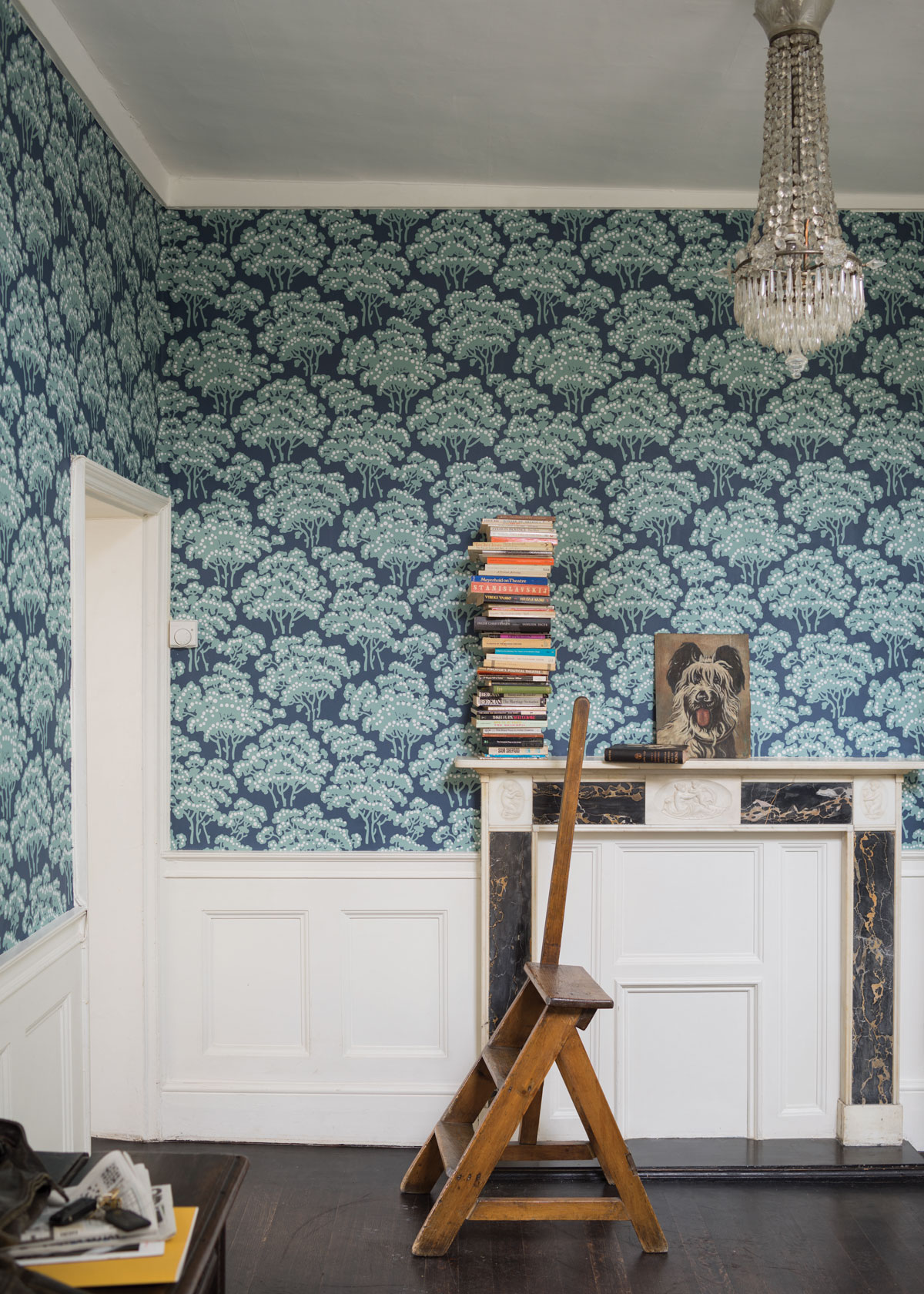 Farrow ball hornbeam wallpaper - Papier peint chambre adulte tendance ...