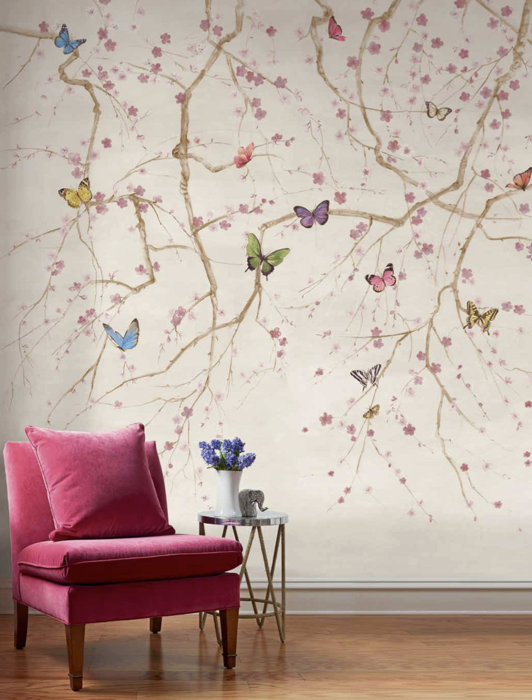 Jaima brown butterfly folly mural for Butterfly wall mural