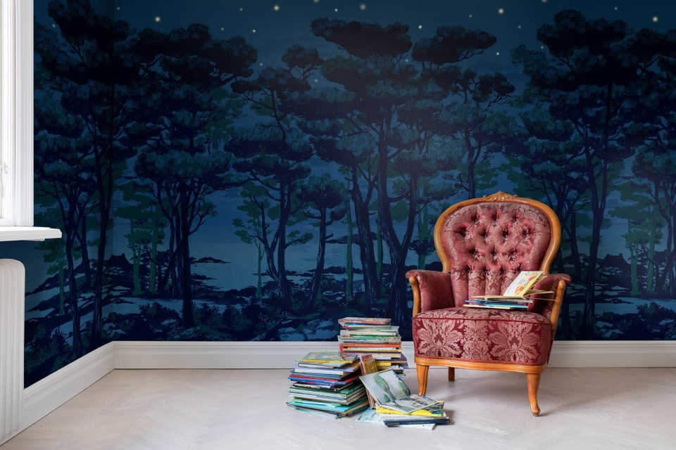 Rebel walls enchanted forest mural for Enchanted forest wall mural