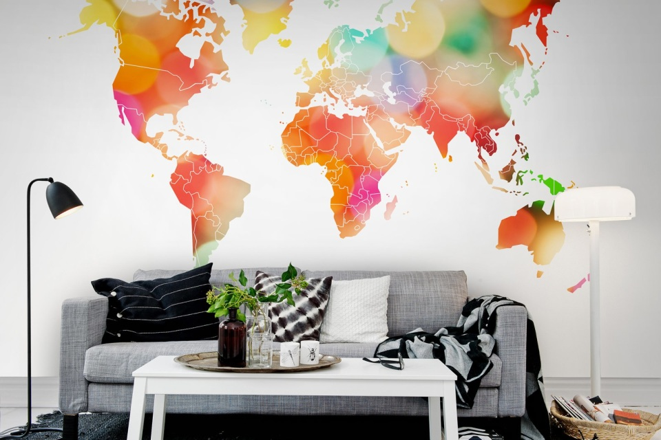 Luxury designer map murals rebel walls confetti world mural gumiabroncs Images