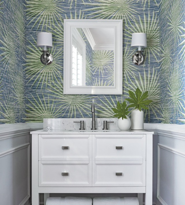 Thibaut Palm Frond Wallpaper