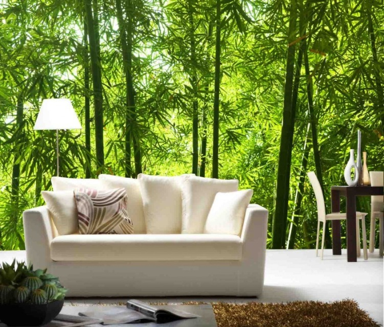 Finest mural asian bamboo for Bamboo mural wallpaper