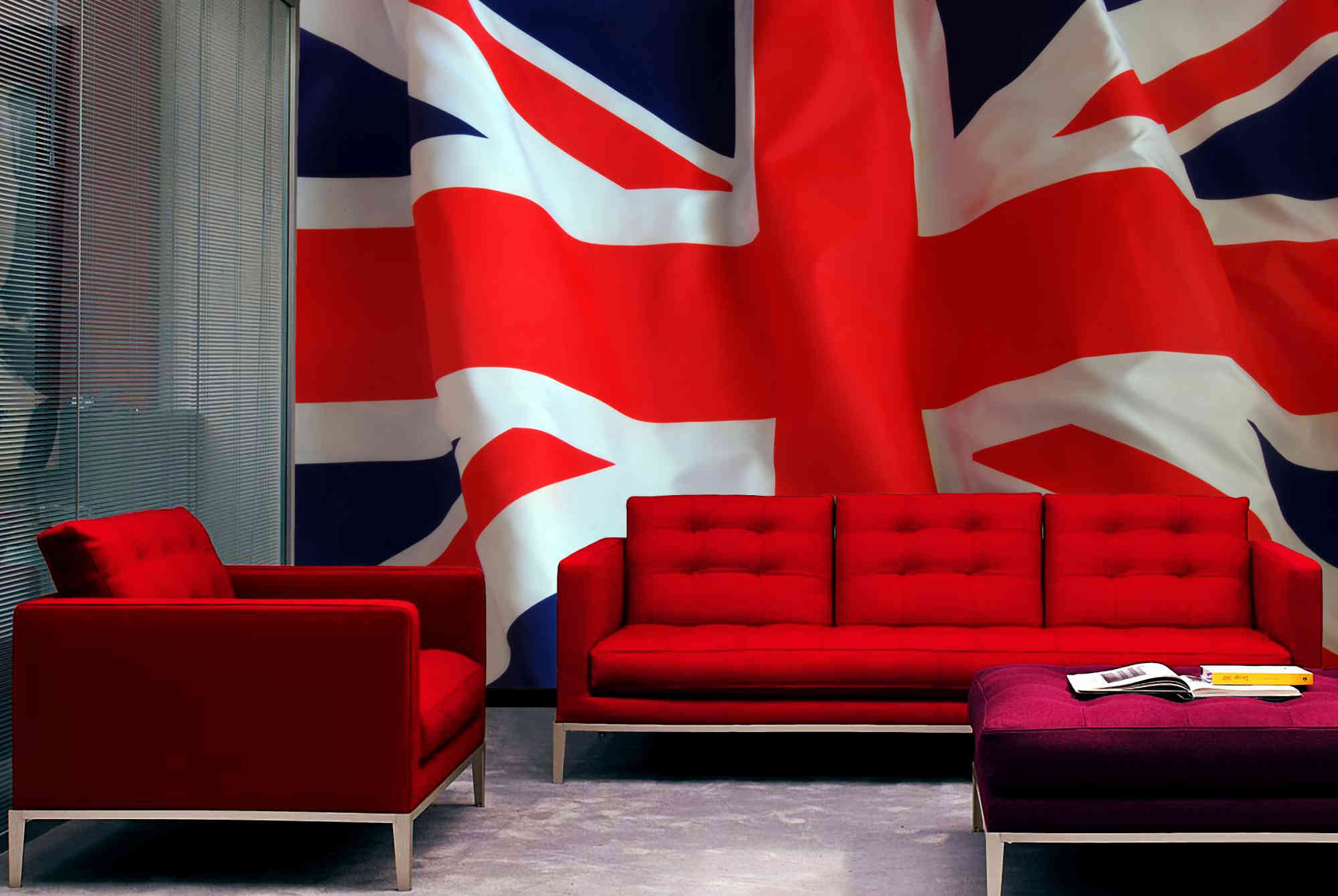 finest mural union jack. Black Bedroom Furniture Sets. Home Design Ideas