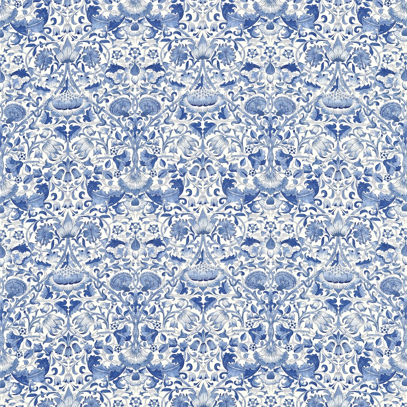 Morris Amp Co Lodden Fabric China Blue
