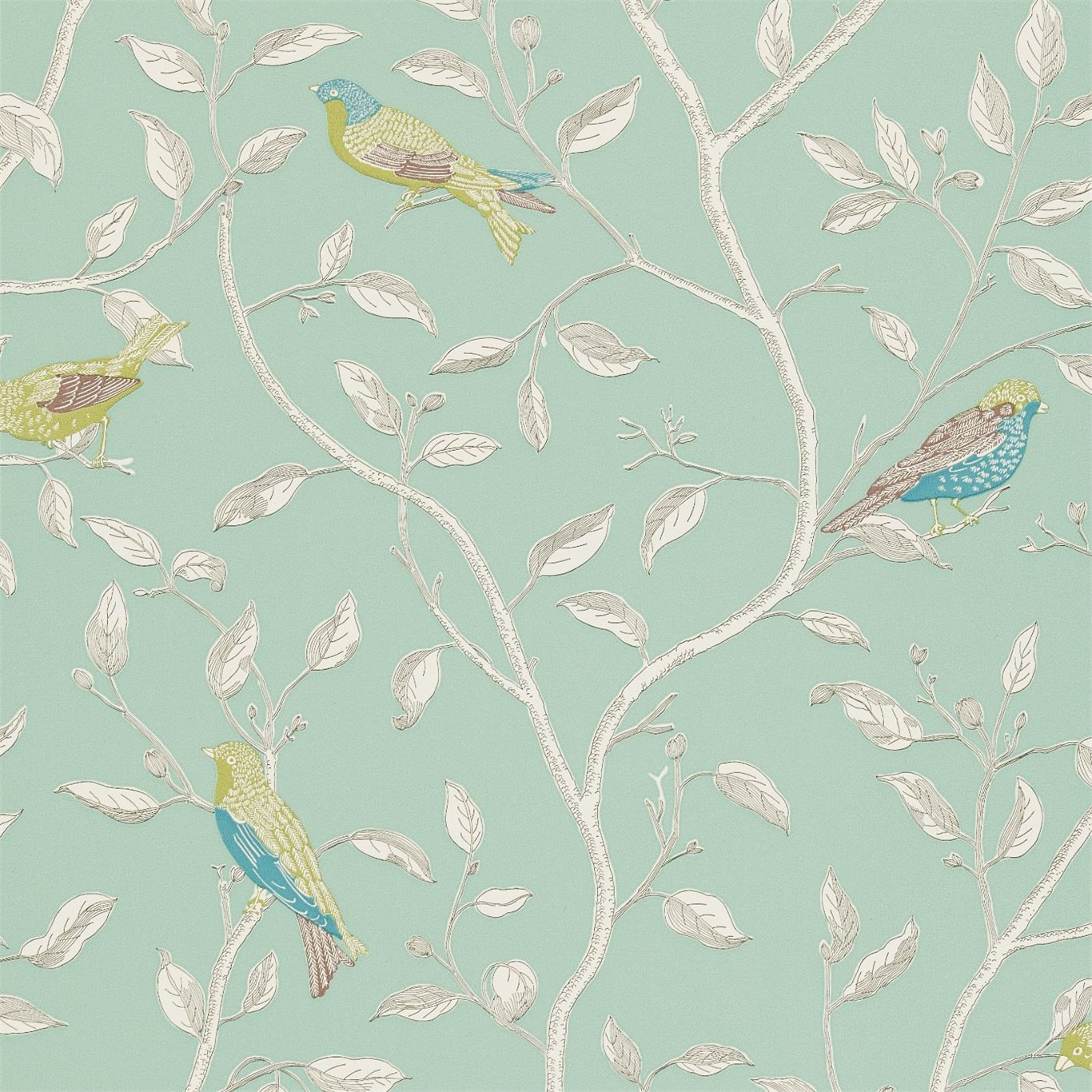Sanderson Finches Wallpaper