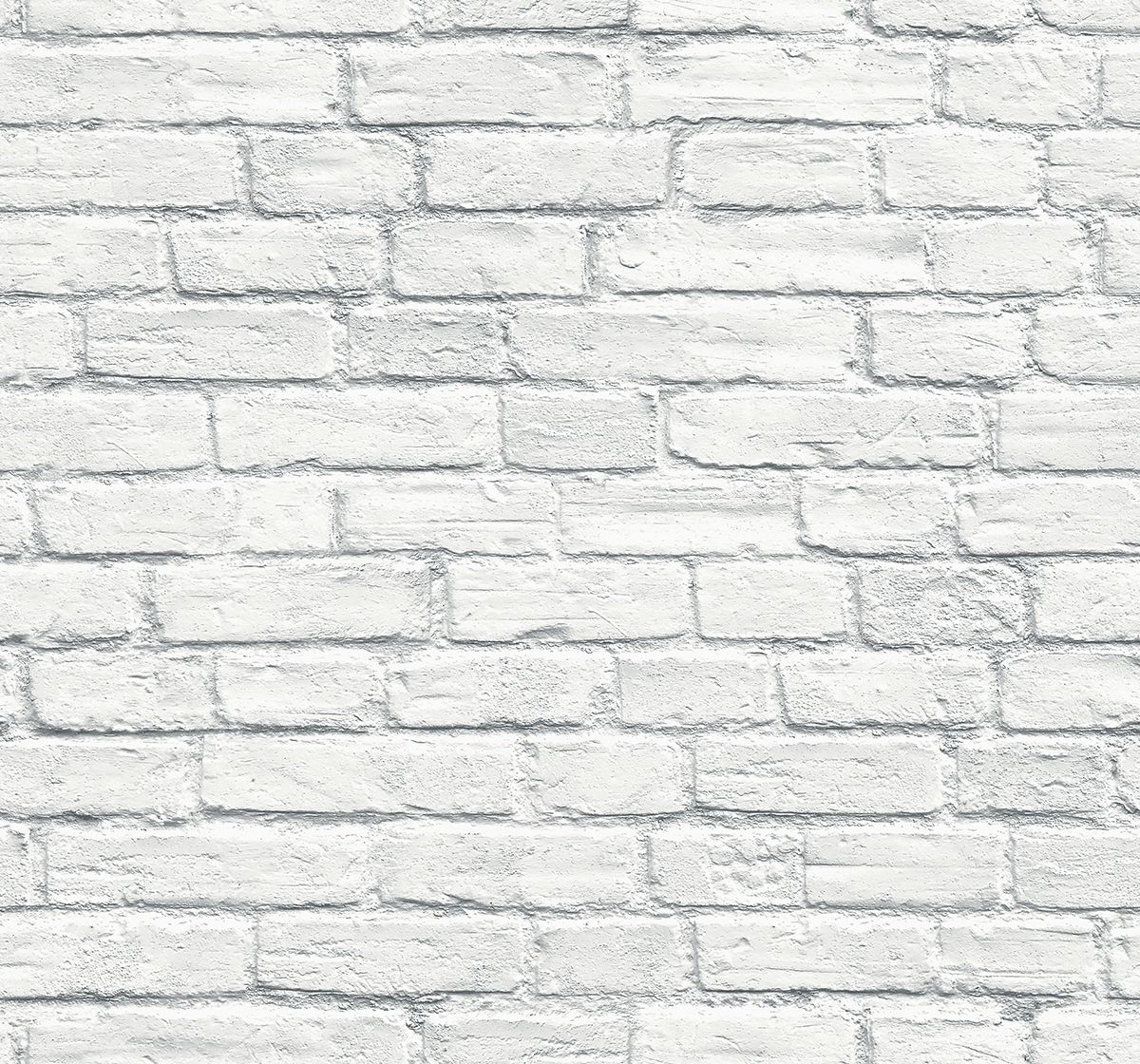 Pelican Prints White Brick Wallpaper