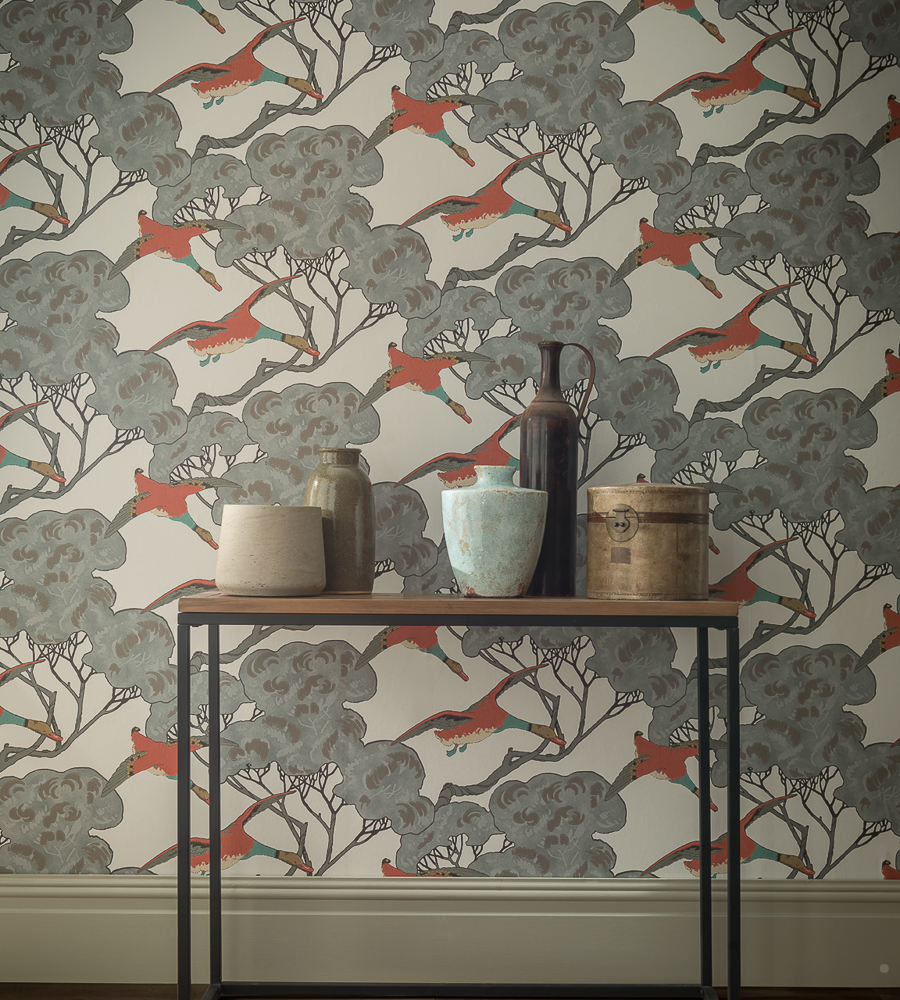 Mulberry home flying ducks wallpaper for Mullberry home