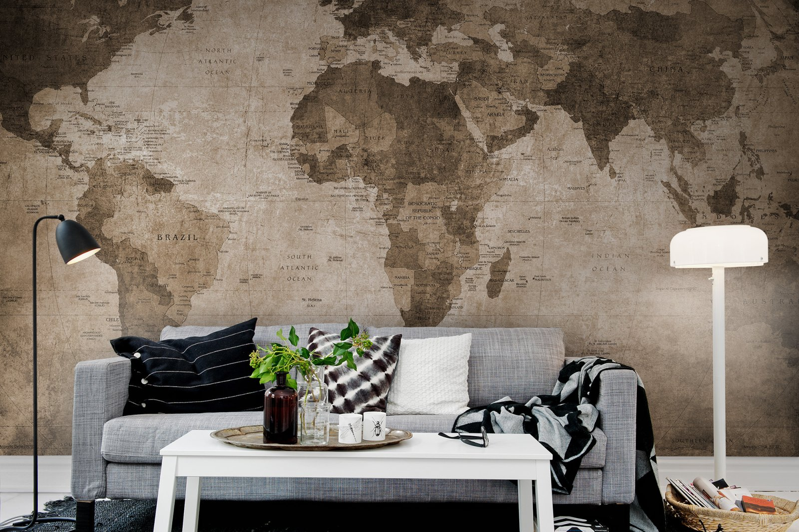 Rebel walls world map brown mural gumiabroncs Images
