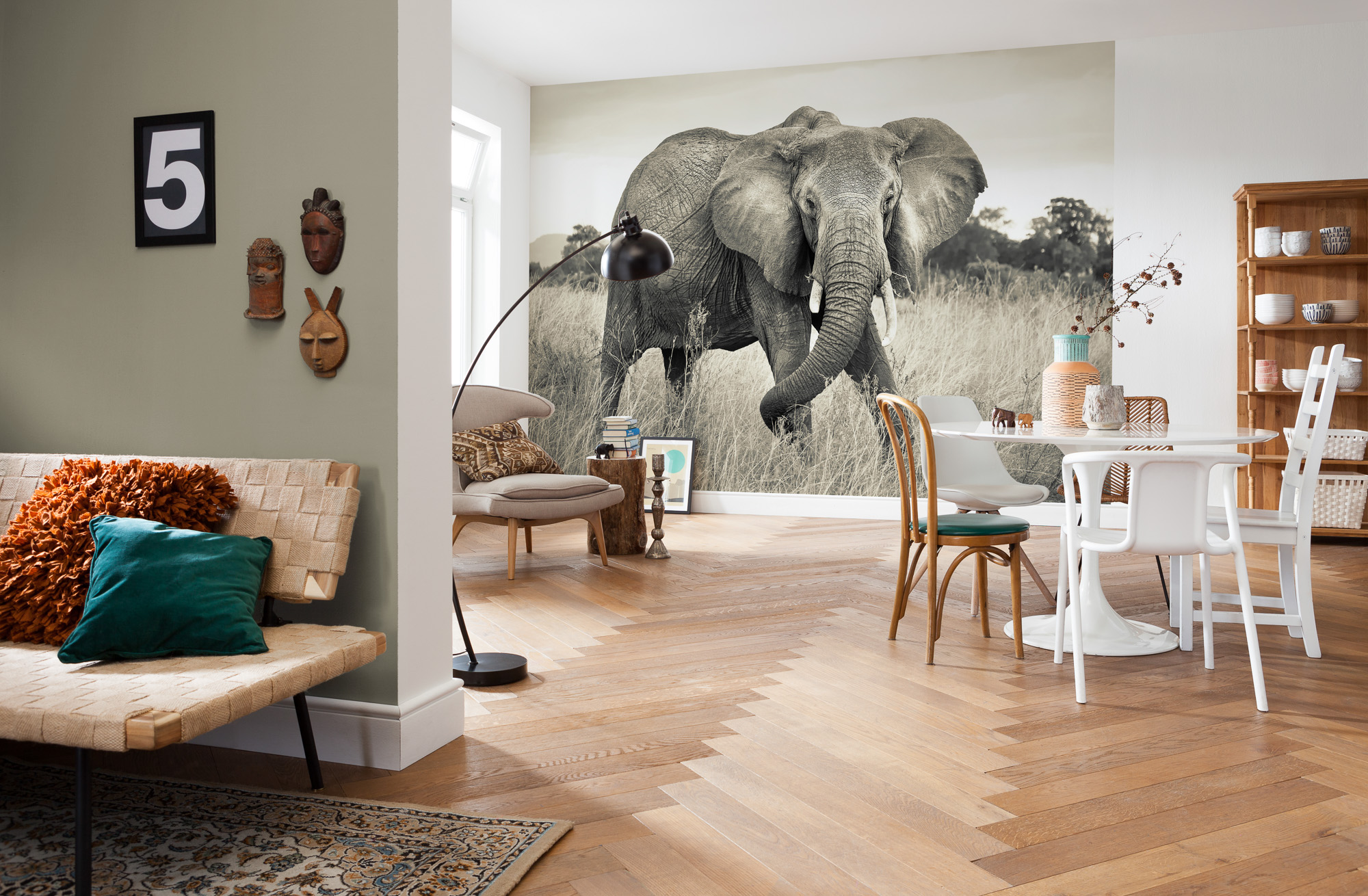England 39 s finest elephant mural for Decoration adhesif mural